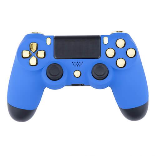 Manette CUstom PlayStation 4 -Bleu Velours et Or