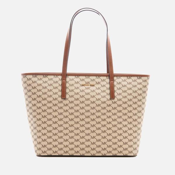 MICHAEL MICHAEL KORS Women's Emry Large Top Zip Tote Bag - Natural/Luggage