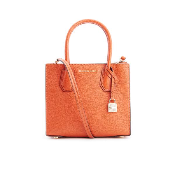 MICHAEL MICHAEL KORS Women s Mercer Mid Messenger Tote Bag - Orange  Image 1 1c8b3c024f
