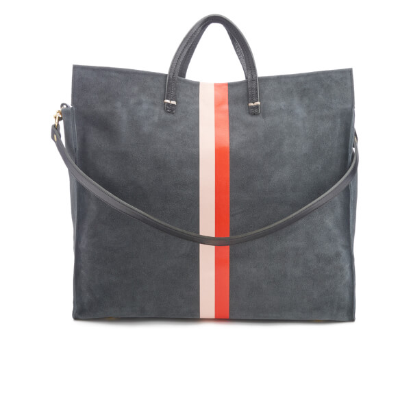 Clare V. Women's Simple Tote Bag - Slate Suede - Free UK Delivery ...