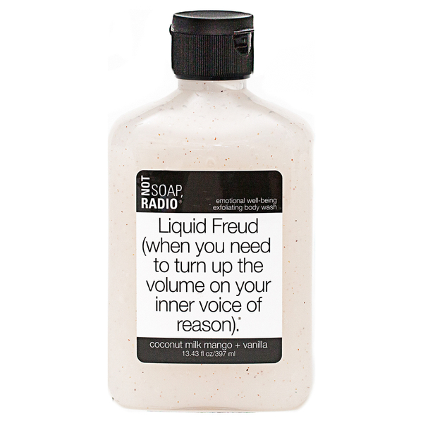 Not Soap Radio Liquid Freud (when you need to turn up the volume on your inner voice of reason) Exfoliating Body Wash 397ml