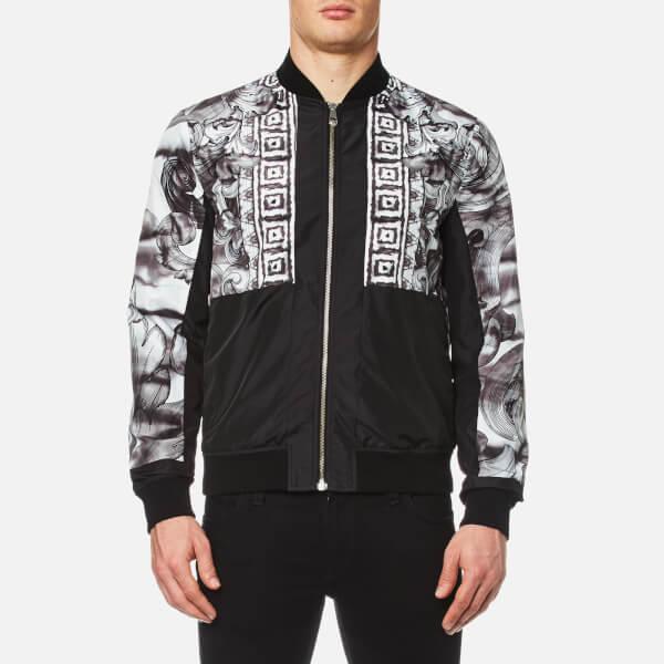 Versace Collection Men S Shoulder Print Bomber Jacket