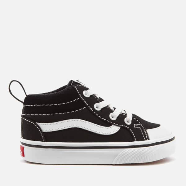232964bc98be Vans Toddlers  Racer Mid Canvas Trainers - Black True White