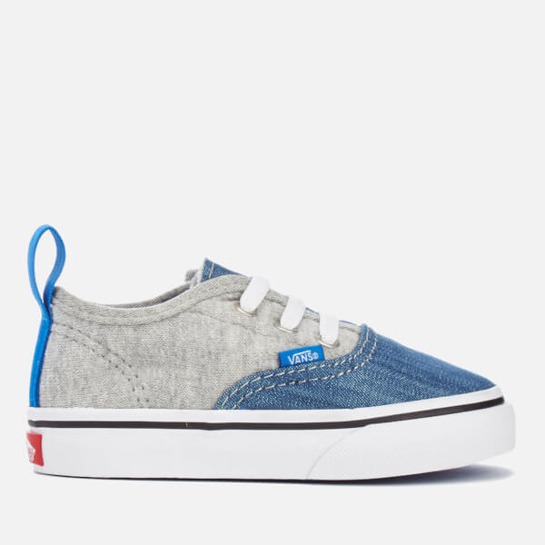 Vans Toddlers' Authentic V Lace Jersey/Denim Trainers - Imperial Blue/True White