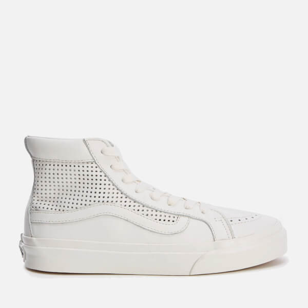 Vans Women's Sk8 Hi Slim Cutout Perforated Hi-Top Trainers - Blanc de Blanc