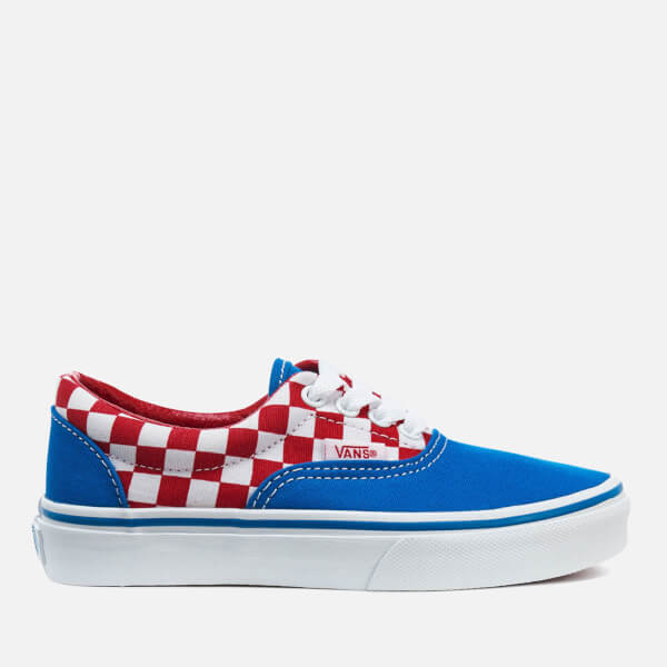 Vans Kids' Era Checkerboard Trainers - Racing Red/Imperial Blue