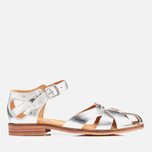 Hudson London Women's Tilda Leather Sandals - Silver