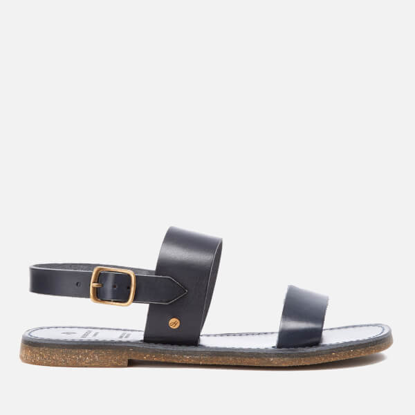 Hudson London Women's Maiara Leather Two Part Sandals - Navy
