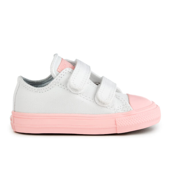 66c1d4174ef0 Converse Toddlers  Chuck Taylor All Star II 2V Ox Trainers - White Vapor  Pink