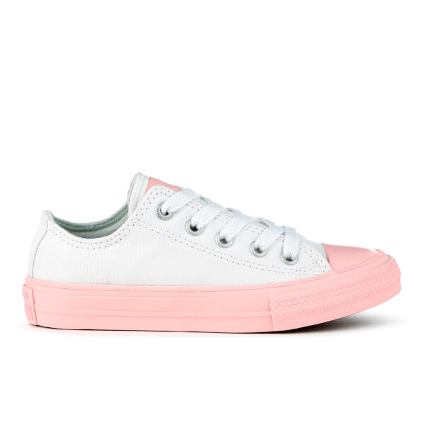 45c04047af88 Converse Kids  Chuck Taylor All Star II Ox Trainers - White Vapor Pink