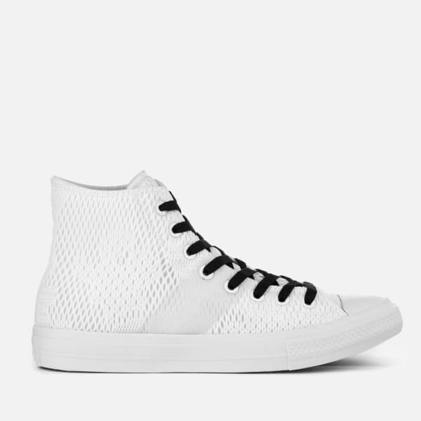 dc326f6eb11cc1 Converse Men s Chuck Taylor All Star II Hi-Top Trainers - White Gum ...