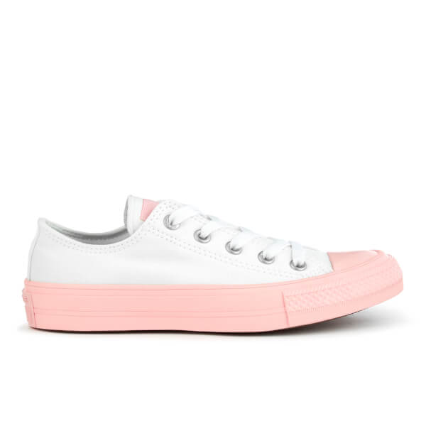 Converse Women's Chuck Taylor All Star II Ox Trainers - White/Vapor Pink