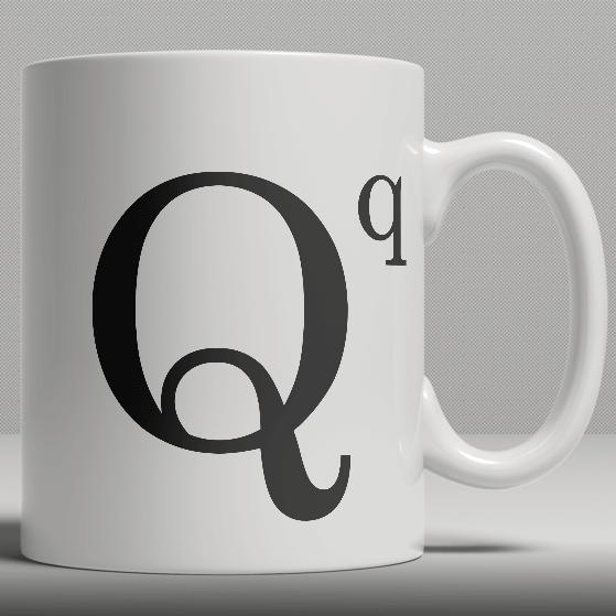 Alphabet Ceramic Mug - Letter Q