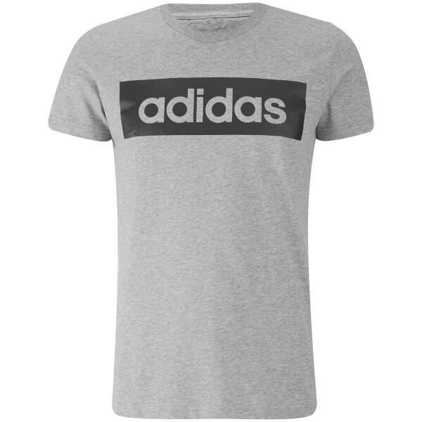 camiseta adidas gris hombre