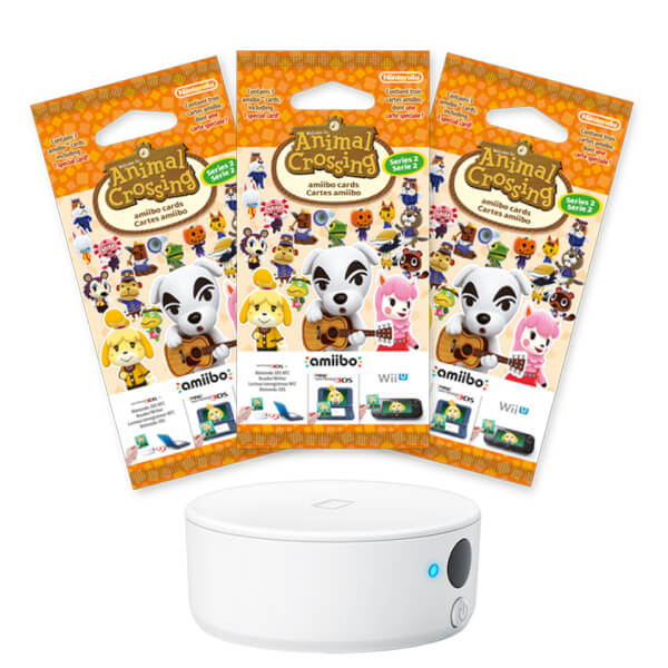Nintendo 3DS NFC Reader/Writer + Animal Crossing amiibo Cards Triple Pack - Series 2