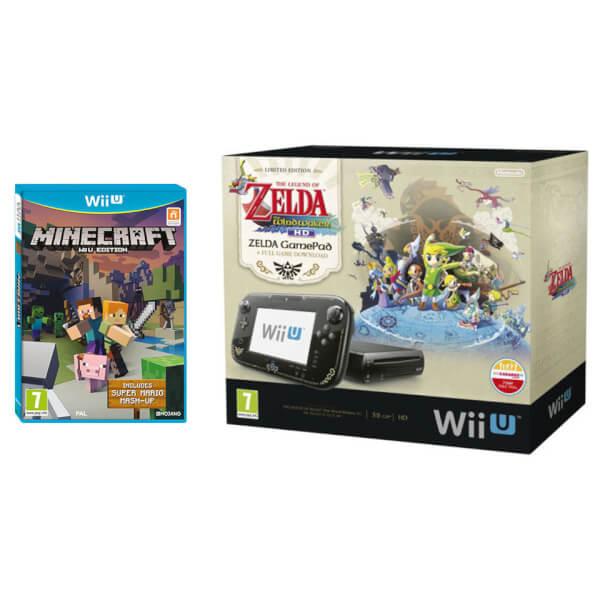 The Legend of Zelda: The Wind Waker HD Wii U Premium Pack + Minecraft: Wii U Edition