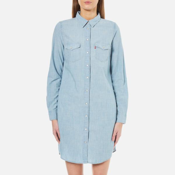 Levi's Women's Iconic Western Dress - Grunge Blue