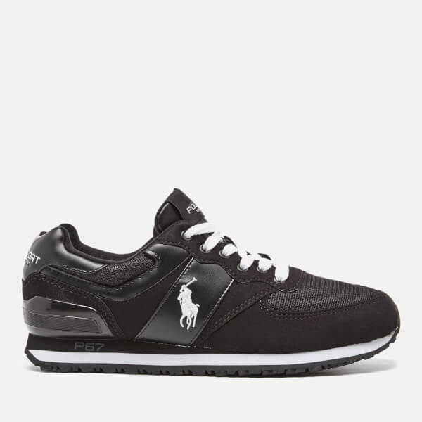 Polo Ralph Lauren Men's Slaton Pony Runner Trainers - Black/White