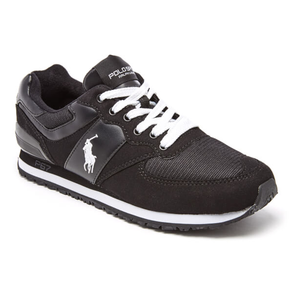 Polo Ralph Lauren Men\u0027s Slaton Pony Runner Trainers - Black/White: Image 2