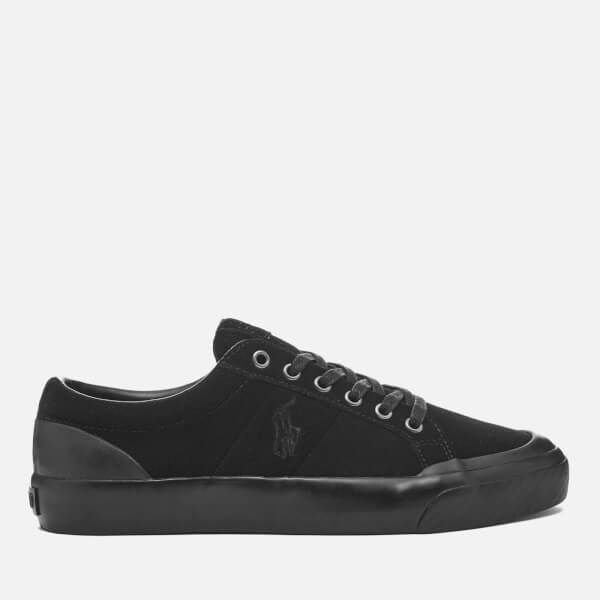 Polo Ralph Lauren Men's Ian Vintage Suede Trainers - Black: Image 1