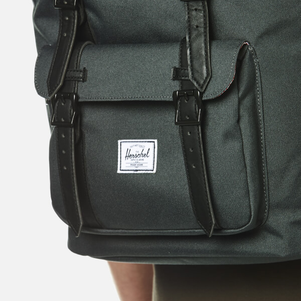 a54b5895e33 Herschel Supply Co. Little America Backpack - Dark Shadow Black Synthetic  Leather  Image