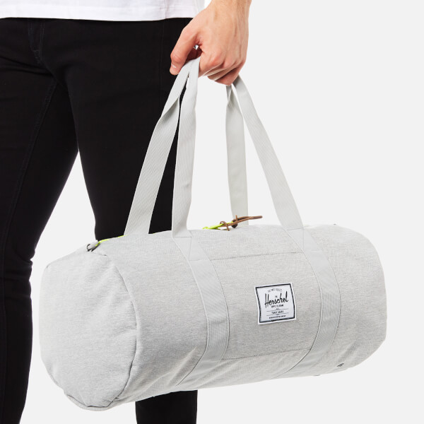 Herschel Supply Co. Sutton Mid-Volume Duffle Bag - Light Grey  Crosshatch/Acid