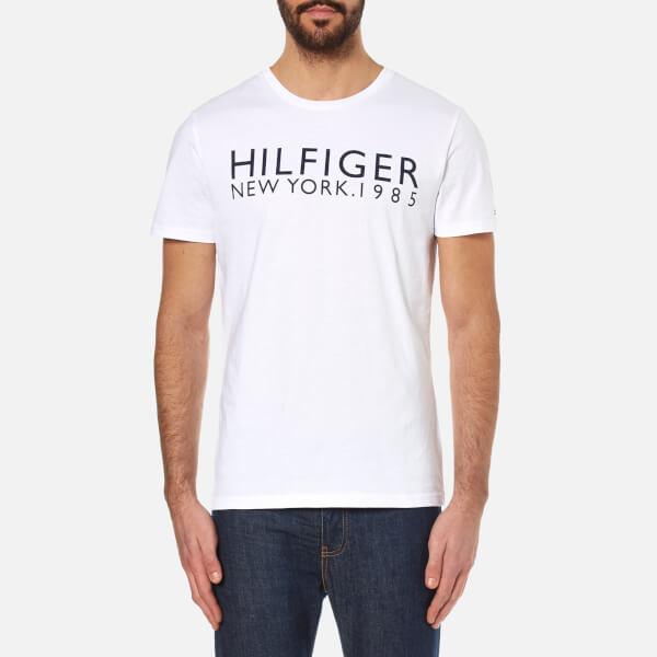 tommy hilfiger men 39 s organic hilfiger t shirt white. Black Bedroom Furniture Sets. Home Design Ideas