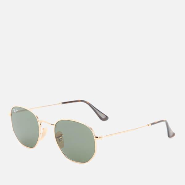 8765b658d2 Ray-Ban Hexagonal Metal Frame Sunglasses - Gold Green  Image 4