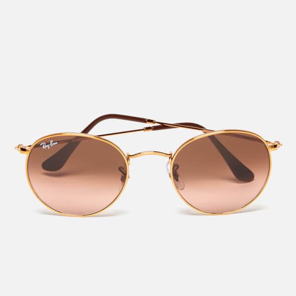 c189f1713b9 Ray-Ban Round Flat Lenses Bronze Copper Frame Sunglasses - Pink Brown  Gradient