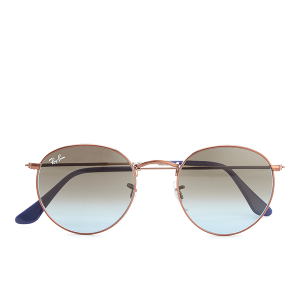 Ray-Ban Round Flat Lenses Gold Frame Sunglasses - Gold/Pink Gradient ...