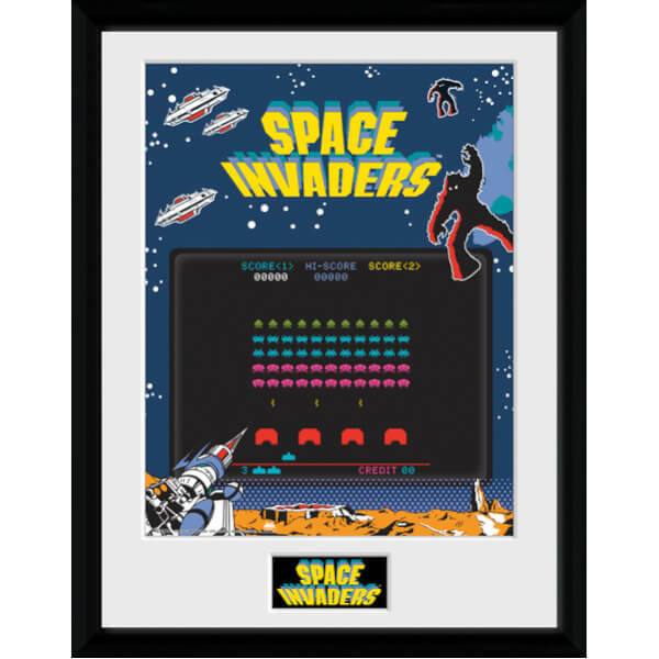 Space Invaders Screen Framed Photographic - 16