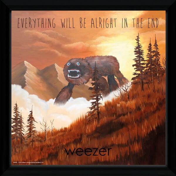 Weezer Alright Framed Album Cover - 12