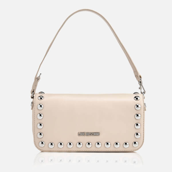 Love Moschino Women's Studs Mini Shoulder Bag - Beige