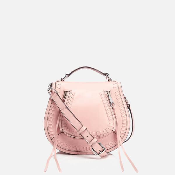 Rebecca Minkoff Women S Small Vanity Saddle Bag Lilac Rose Image 1