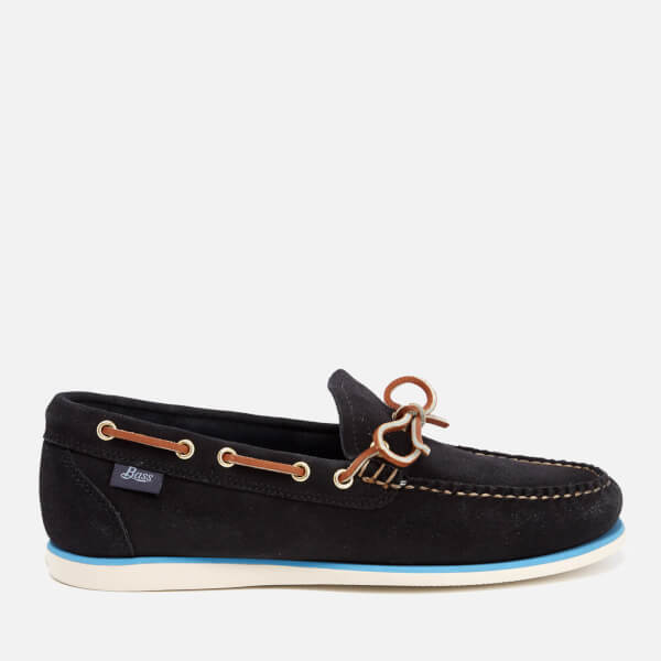 Bass Weejuns Men's Camp Moc Lite Decker Suede Boat Shoes - Navy