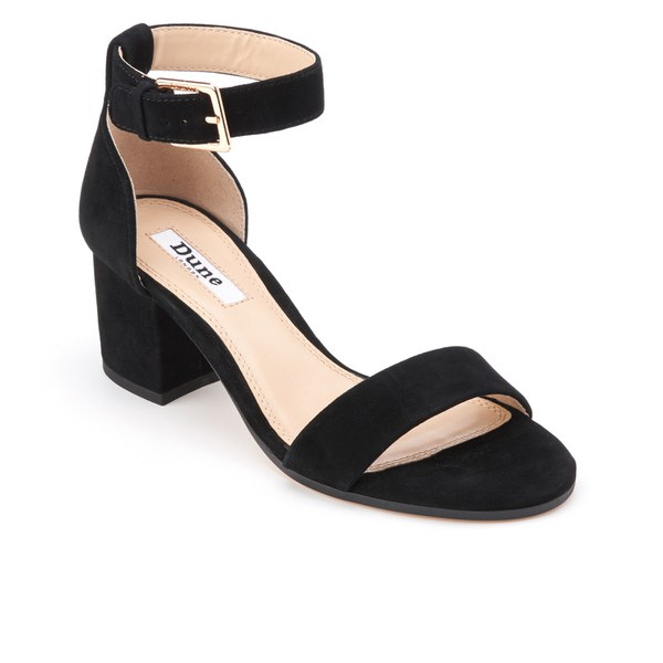 3c628780547d Dune Women s Jaygo Suede Barely There Blocked Heeled Sandals - Black  Image  2