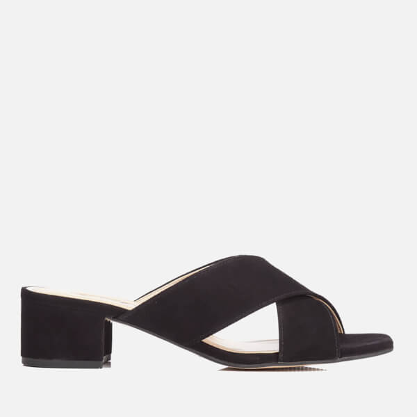 Dune Women's Junipar Suede Heeled Mule Sandals - Black
