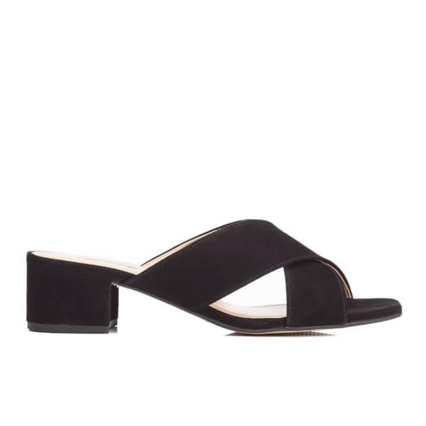 Dune Women's Junipar Suede Heeled Mule Sandals - Black