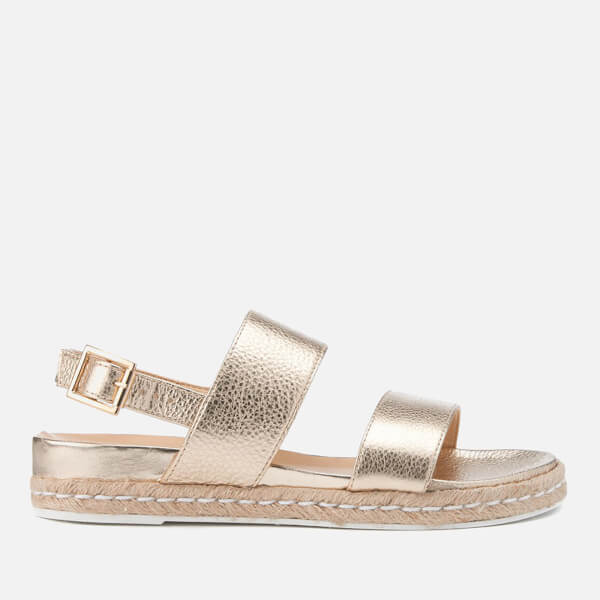 Dune Women's Lacrosse Leather Sling Back Espadrille Sandals - Gold