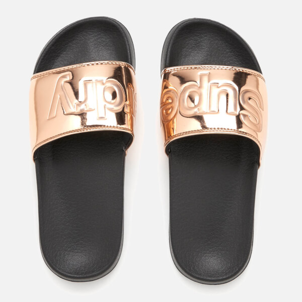 Superdry Women's Pool Slide Sandals - Rose Gold