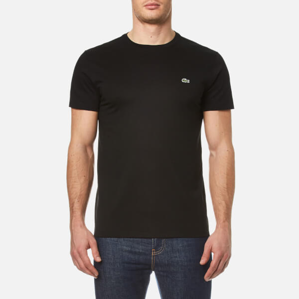 c4fc10c5f24385 Lacoste Men s Classic Pima T-Shirt - Black Clothing