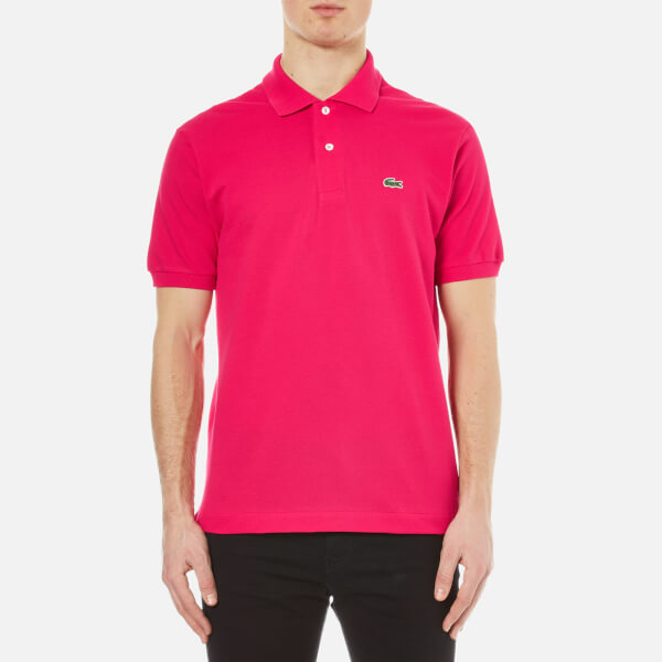 Lacoste Men's Short Sleeve Pique Polo Shirt - Fuchsia: Image 1