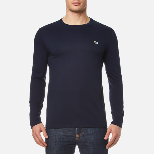 Clothing Shirt T Men's Lacoste Navy Sleeve Long cqwfUY6g
