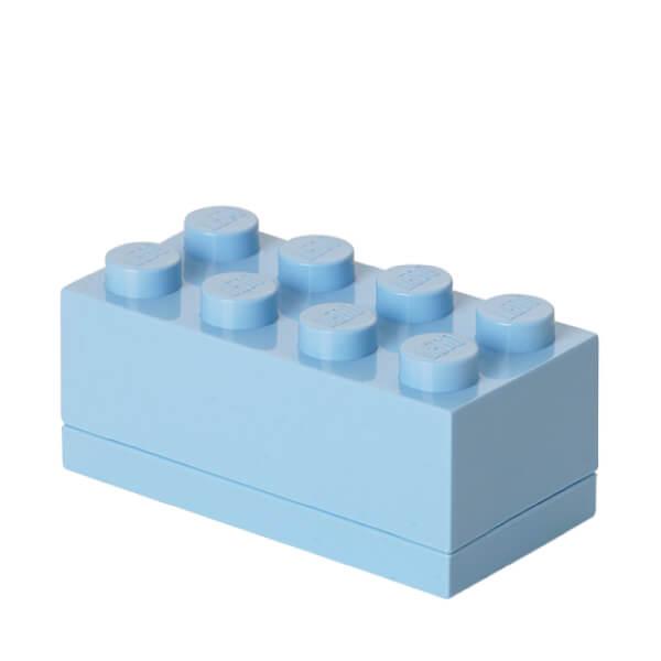 Mini Brique de rangement LEGO® Bleu Clair 8 tenons