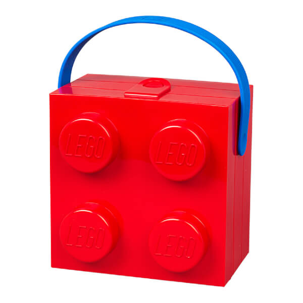 LEGO Classic Lunch Box with Handle (4 Knob) - Bright Red