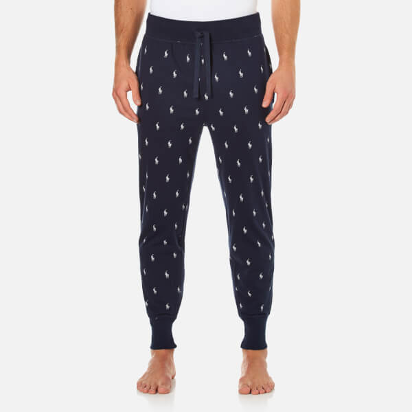 Polo Ralph Lauren Men's Branded Waistband Lounge Jog Pants - Cruise Navy:  Image 1