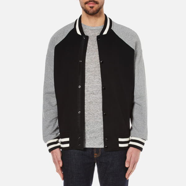 rag & bone Men's Arden Varsity Jacket - Black/Grey