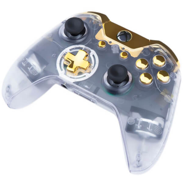 Custom Controllers Xbox One Controller - Transparent: Gold ...