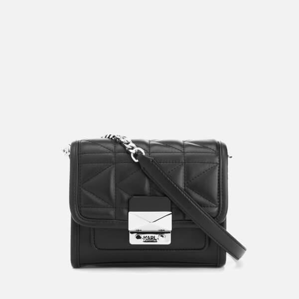 47451bbcafa7 Karl Lagerfeld Women s K Kuilted Mini Cross Body Bag - Black Womens ...