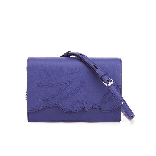 Blue shoulder bag Karl Lagerfeld Discount Very Cheap APuIGan